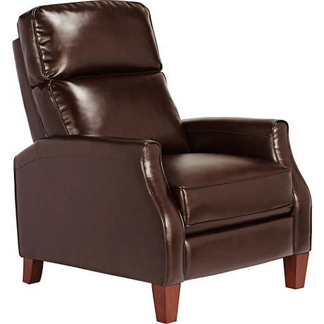 Oliver Fairfield Walnut Bonded Leather 3-Way Recliner