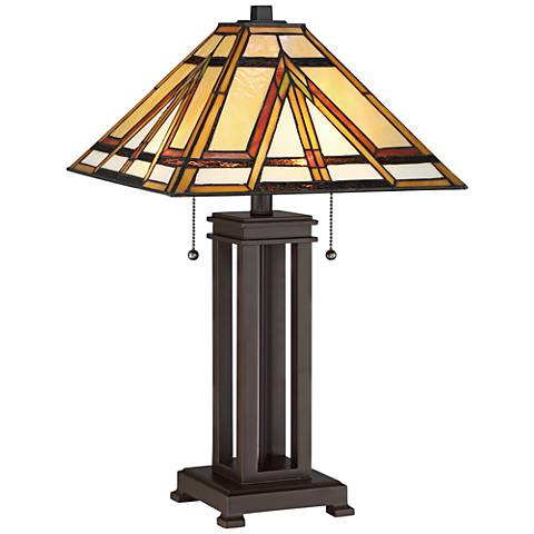 Quoizel Gibbons Russet Mission Style 2-Light Table Lamp