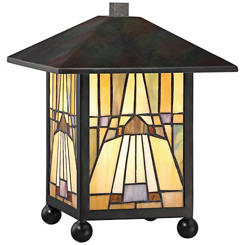 Quoizel Inglenook Arts and Crafts Bronze Accent Lamp