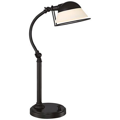 Quoizel Vivid Benedict LED Retro Bronze Desk Lamp