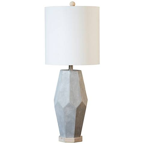 Couture Pacifica Natural Gray Cement Table Lamp