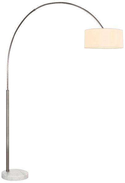 sonneman arc satin nickel floor lamp
