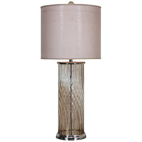 Uttermost Savena Amber Glass Buffet Table Lamp