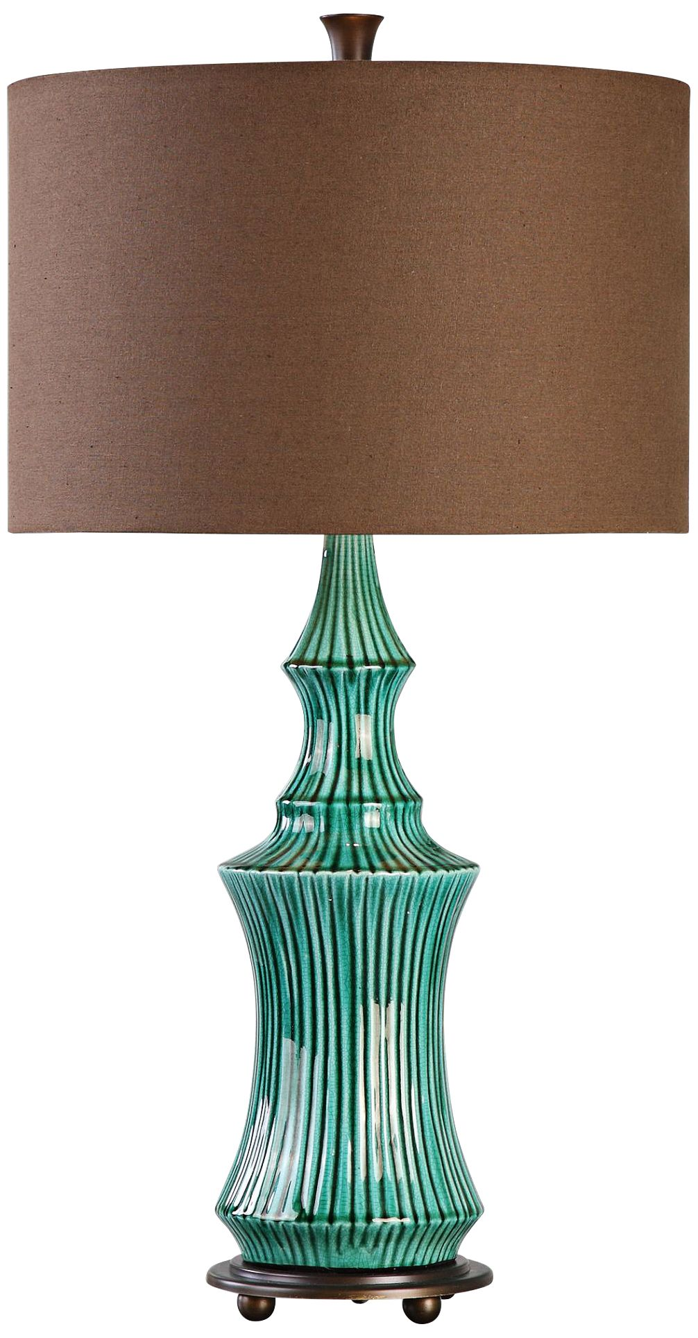 uttermost timavo teal ceramic table lamp - Uttermost Lamps