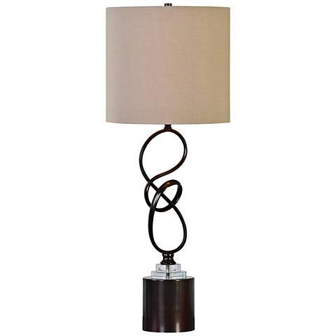 Uttermost Aprilia Sculptural Metal Table Lamp