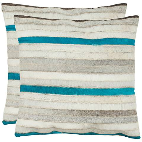 "Safavieh Quinn 22"" Square Striped Accent Pillow Set of 2"