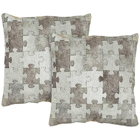 "Safavieh Mason 18"" Square Decorative Pillow Set of 2"