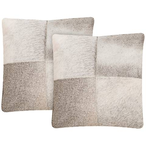 "Safavieh Levar 18"" Square Gray Decorative Pillow Set of 2"
