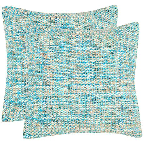 """Safavieh Carrie Blue 20"""" Square Accent Pillow Set of 2"""