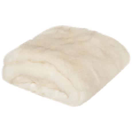 Safavieh White Faux Shadow Fox Throw Blanket