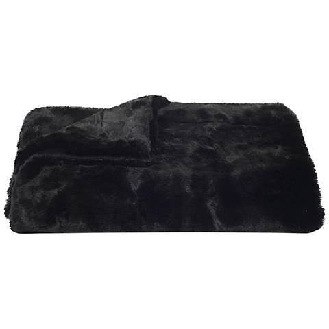 Safavieh Black Faux Mink Throw Blanket