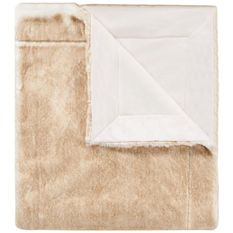 Safavieh Light Brown Faux Fox Throw Blanket