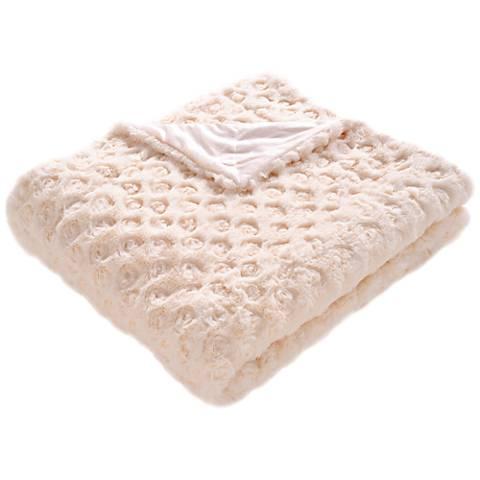 Safavieh Creme Pebbles Throw Blanket