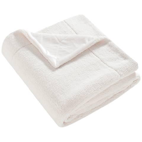 Safavieh Creme Marshmallow Throw Blanket