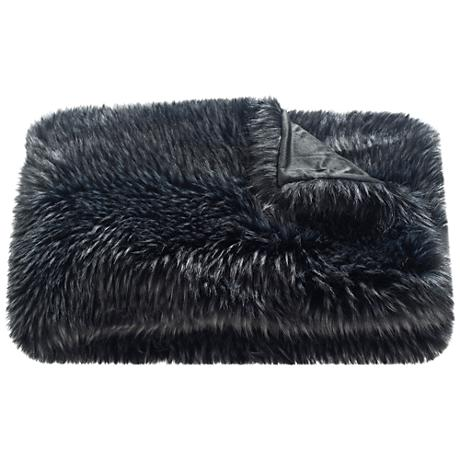 Safavieh Midnight Faux Grizzly Throw Blanket