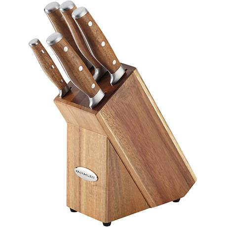 Rachael Ray Japan Stainless Steel 6-Piece Knife Block Set
