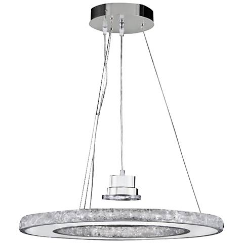 "Ice 24"" Wide Natural Ice Crystal LED Pendant Chandelier"