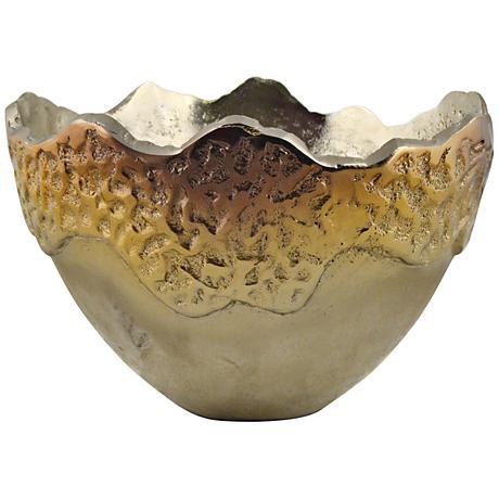 Rojo 16 Golden Luxury Costa Brava Ombre Decorative Bowl