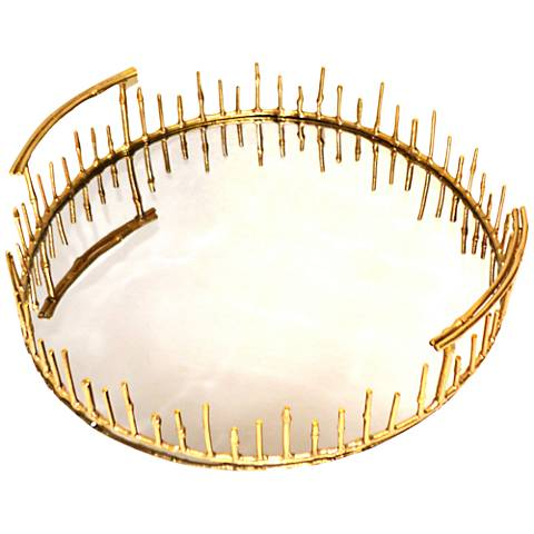 Rojo 16 Golden Luxury Brunei Bamboo Reed Tray