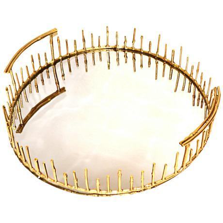 Rojo 16 Golden Luxury Brunei Bamboo Reed Tray