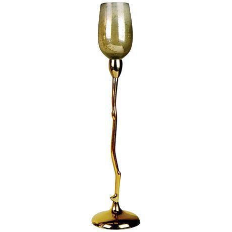 """Costa Brava 19 1/2""""H Golden Glass Tealight Candle Holder"""