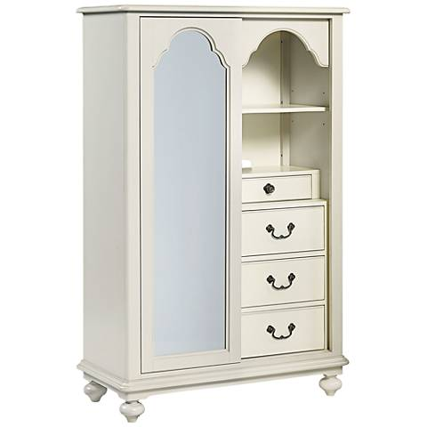 Signature Seashell Lighted Mirror 4-Drawer Dressing Chest