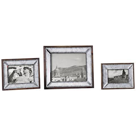 Uttermost Daria Aged Pecan 3-Piece Wood Photo Frame Set