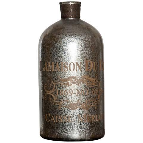 Uttermost Liaison Vintage Silver-Mercury Glass Bottle