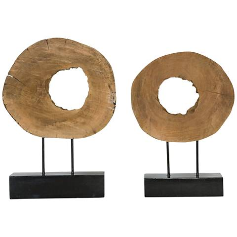 Uttermost Ashlea 2-Piece Mango Wood Log Sculpture Set