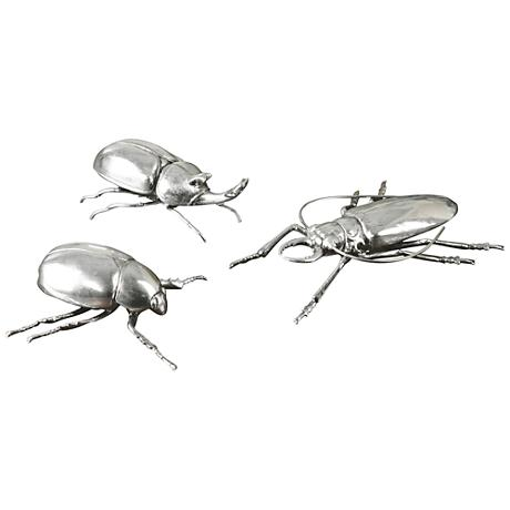 Uttermost Meet the Beetles 3-Piece Silver Figurines Set