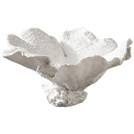 Uttermost Ali Textured White Powder Stone Decorative Bowl