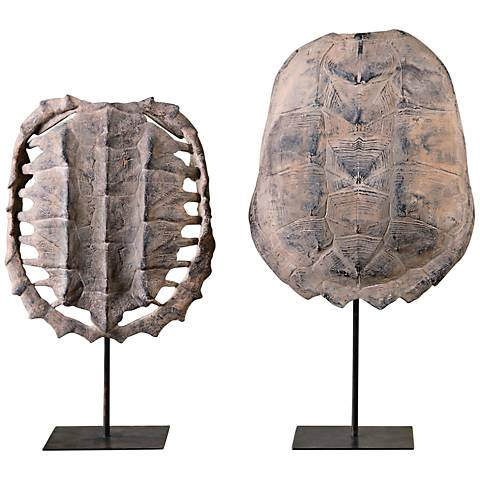 Uttermost Turtle 2-Piece Replica Shell Sculpture Set