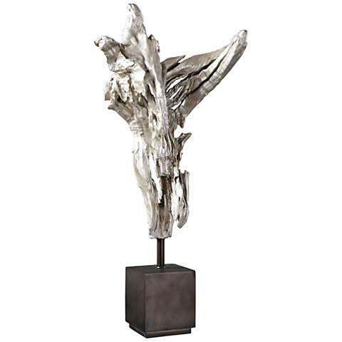 """Uttermost Arjan Silver Replica 27 1/4""""H Driftwood Sculpture"""