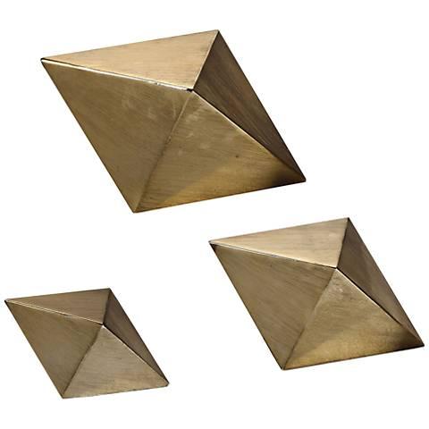 Uttermost Champagne Rhombus 3-Piece Tabletop Sculpture Set