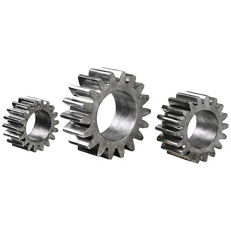 Uttermost Industrial Gears 3-Piece Silver Sculpture Set