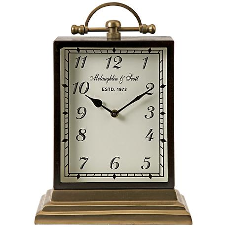 """Ford Steel and Aluminum 14 1/2"""" High Oversized Desk Clock"""