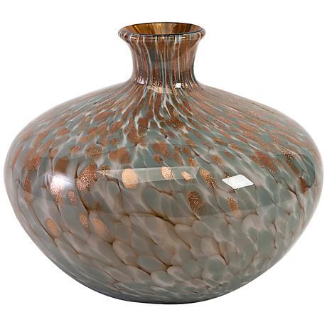 "Teneyck Mystic Gold 11 1/2"" Wide Molten Glass Decorative Jug"