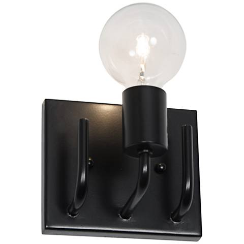 "Varaluz Socket-To-Me 5 3/4"" Wide Black Bath Light"