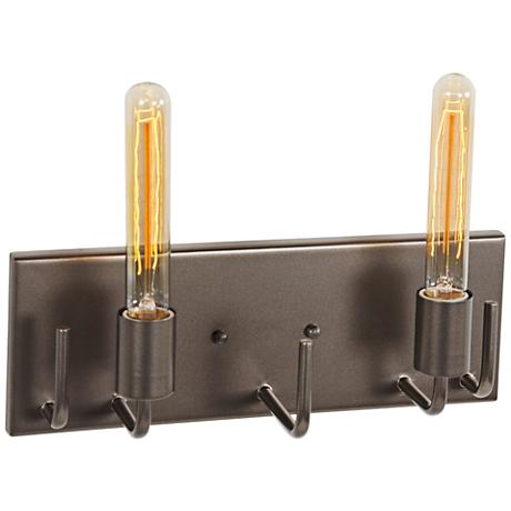 "Varaluz Socket-To-Me 14 1/4"" Wide New Bronze Bath Light"