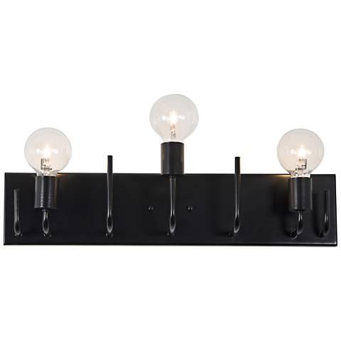 """Varaluz Socket-To-Me 22 3/4"""" Wide Black Bath Light"""
