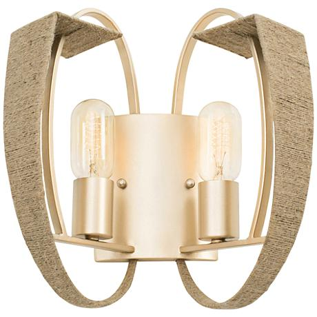 """Varaluz Tinali 12"""" High Gold Dust Two-Light Wall Sconce"""