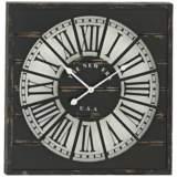 "New Era Black Wood 27"" Square Wall Clock"
