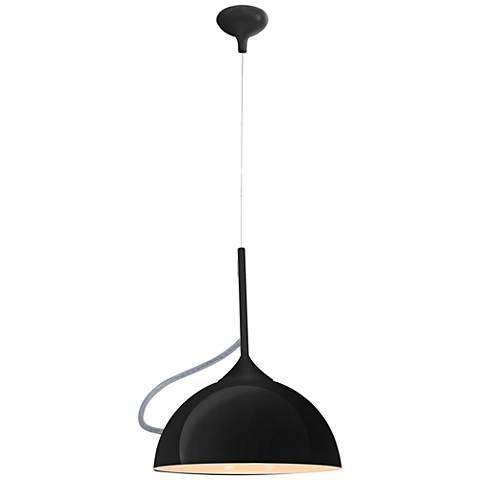 "Magneto 13 3/4"" Wide Black Metal Pendant Light"
