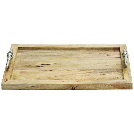 Roseville Natural Wood Rectangle Tray