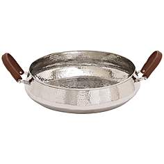 Limited Production Design 5 Dia Olive Branch Hammered Stainless Steel Bowl