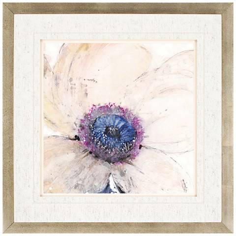 """Flower Flow II 35"""" Square Silver-Framed Wall Art"""