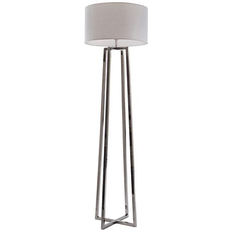 Maison Home Balfour Polished Nickel Floor Lamp