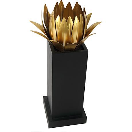 """Carroline 15 1/4"""" High Large Floral Pillar Candle Holder"""