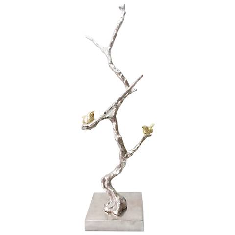 "Solikka Tree Branch 28"" High Aluminum Sculpture"