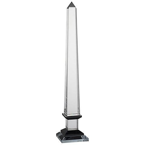 """Odille 16"""" High Crystal Obelisk Sculpture"""